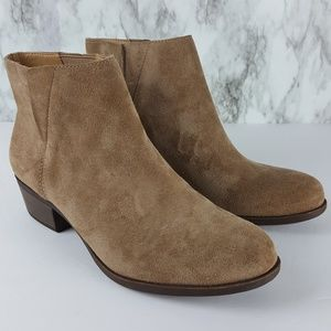 Lucky Brand Benissa Tan Suede Ankle Boots 9 6F76